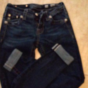 MISS ME SZ26 BLINGED SIGNATURE SKINNY ANKLE JEANS